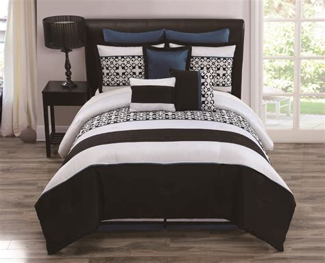 white and teal comforter 9 piece queen lexi black white teal bedding comforter set