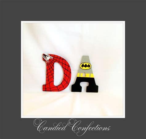 Letter Batman And Batman Letters Candied Confections Wood Letters Letters