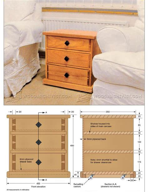 Plans For Chest Of Drawers by Small Chest Of Drawers Plans Woodarchivist