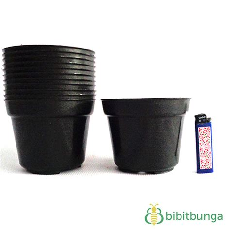 As 03 Hitam pot plastik hitam 216 12 cm bibitbunga