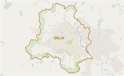 political map of delhi minor breaks out in gujarat bhavan in new delhi