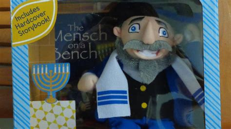 minch on a bench mass native creates jewish alternative to elf on a shelf