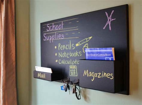 chalkboard holder diy chalkboard mail organizer interior design ideas