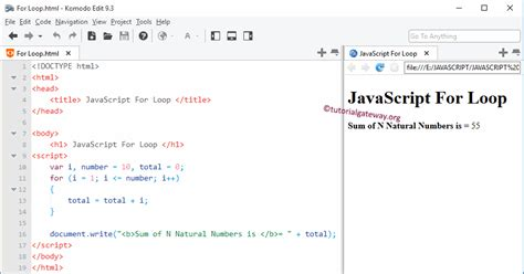 javascript tutorial document write javascript for loop