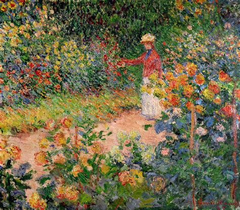 claude monet garten garden at giverny by claude monet