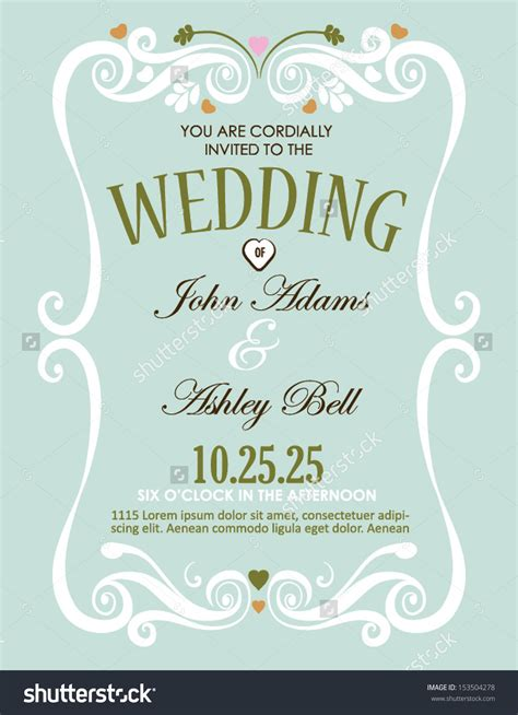Wedding Border Vector by Wedding Invitation Designs Wedding Invitation Card