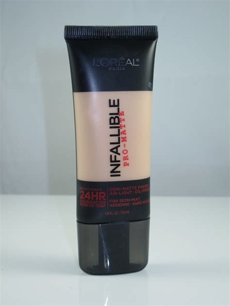 L Oreal Foundation Infallible Pro Matte l oreal infallible pro matte foundation review swatches