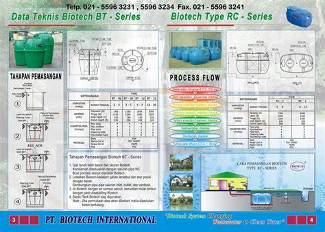 Septic Tank Biotech pt biotech international brosur septic tank biotech