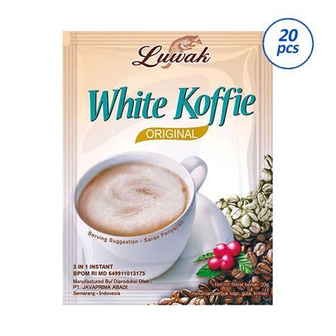 Minuman Luwak White Coffee 20gr jual luwak white coffee kopi instant 20 sachet harga kualitas terjamin blibli