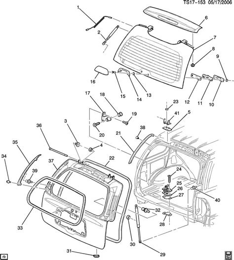 gmc parts diagram 2004 gmc envoy xuv tailgate parts diagram vacuum auto