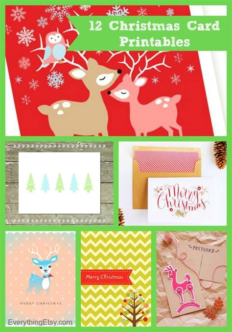 free printable xmas cards download 12 christmas card printables free downloads