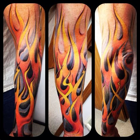 flame sleeve tattoos tattoos