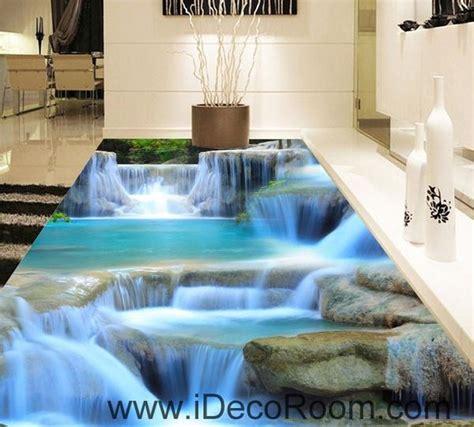 waterfall pool stage  floor decals  wallpaper wall