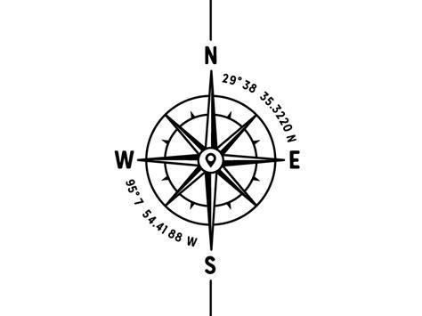 compass tattoo coordinates compass ink compass tattoo and tatting