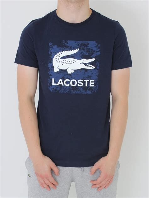 New Lacoste Navy And Green Tshirt For lacoste sport logo t shirt in navy northern threads