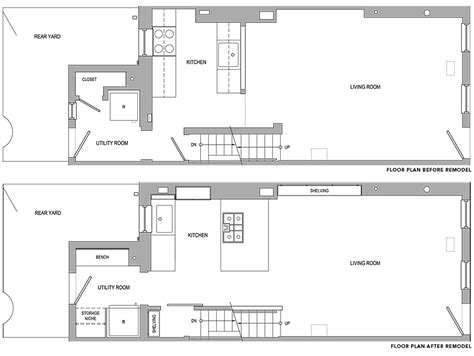 philadelphia row house floor plan