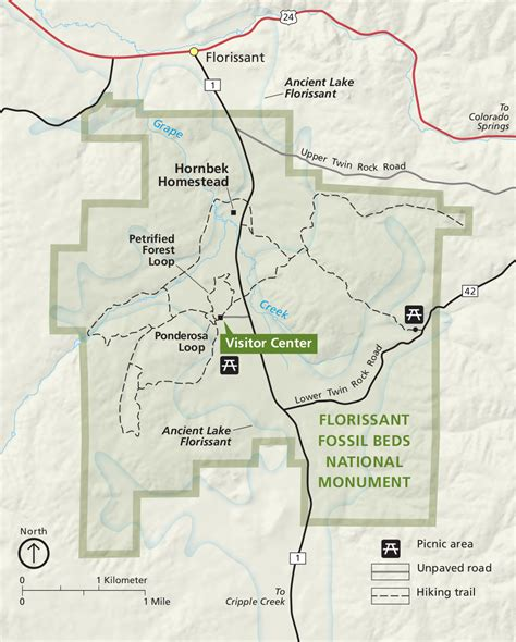 florissant fossil beds maps npmaps com just free maps