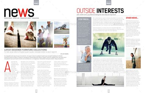 design a page layout for a magazine magazine template indesign 40 page layout v7 by