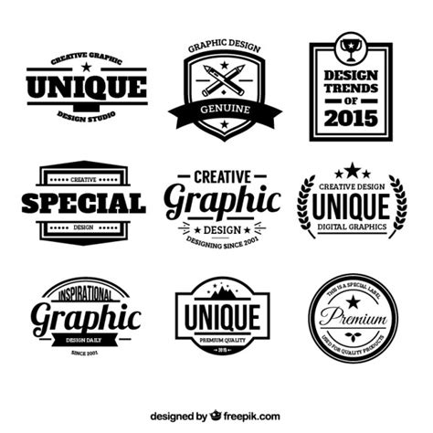 logo badge maker design badges in retro style vector free