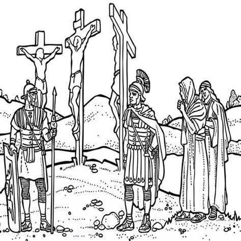 coloring pages jesus crucified friday coloring pages depiction of jesus crucifixion