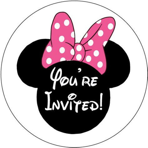 page plus minnie mouse greeting card template 30 minnie mouse birthday invitation stickers you