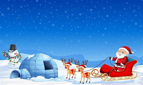 santa claus  winter background   vectors clipart graphics vector art