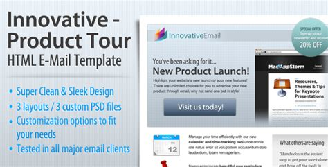 Product Email Template by Innovative Product Tour Html Email Template By Index2