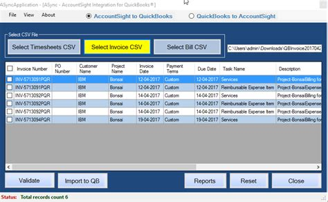 csv format for quickbooks export invoice data from accountsight to quickbooks invoices