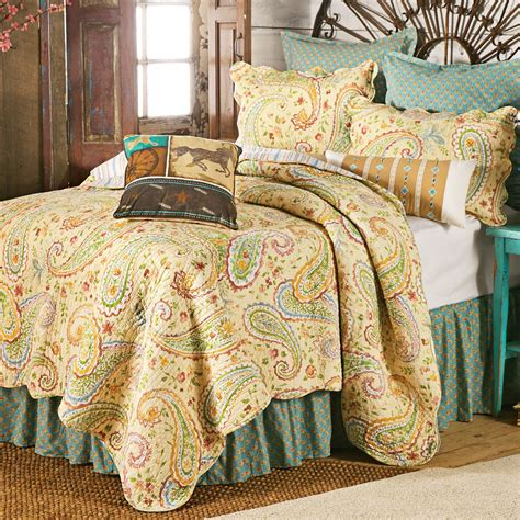 patterned coverlets wildflower paisley bedding collection