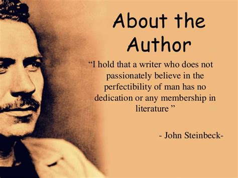 The Author the pearl by steinbeck about the book author