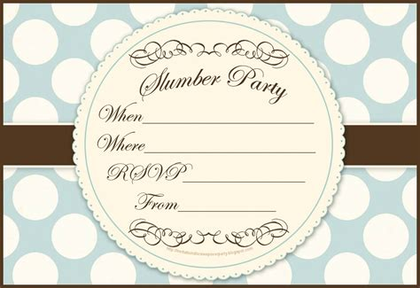 sleepover invitation templates free invitations for sleepover