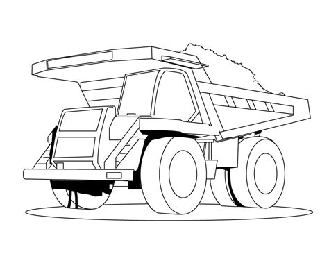 free printable dump truck coloring pages for kids