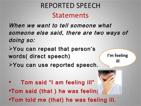 what is a speech reported speech presentation