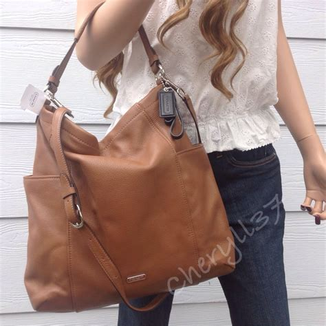Coach Crossbody Large nwt coach large brown leather hobo shoulder bag