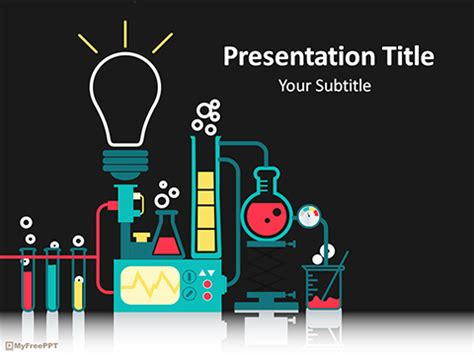 scientific powerpoint template free flask powerpoint templates myfreeppt
