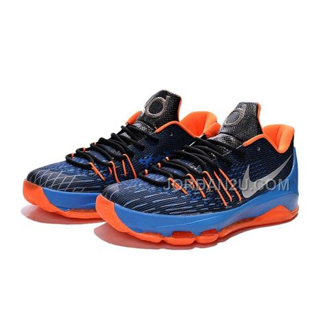 8 mens basketball shoes nike kd 8 mens kevin durant blue black orange home
