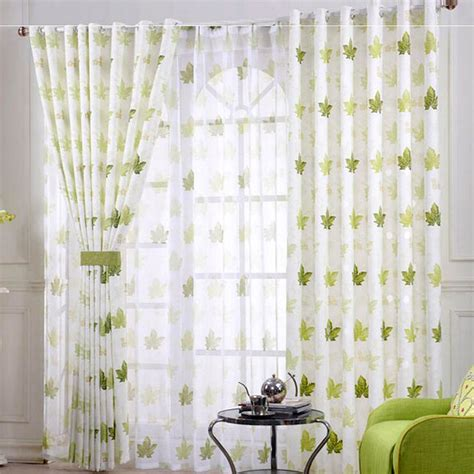 Green And White Patterned Curtains Inspiration Green Leaf Pattern Curtains Pin By Stechman On Ideas And Inspiration For Our New Arrival Fresh