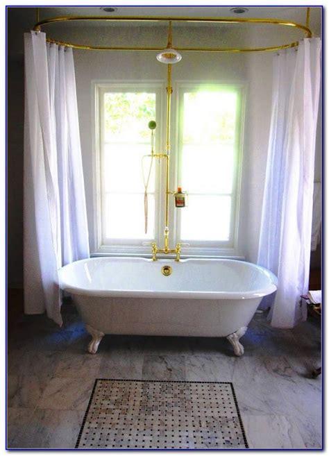 Design Clawfoot Tub Shower Curtain Rod Ideas Clawfoot Tub Shower Curtain Rod Curtain Home Design Ideas 5er41rn9w3