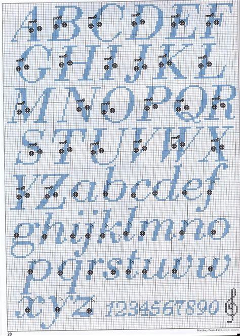 lettere punto e croce alfabeto punto croce con note musicali magiedifilo it
