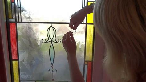 painting front door and removing window film hometalk how to make leaded windows and stain glass easily and