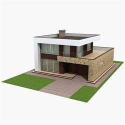 3d home kit design works 3d model modern house