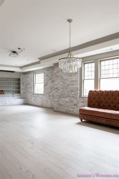 hardwood walls basement whitewashed brick limewash walls hardwood shaw