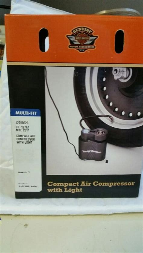 harley davidson 12v volt portable compact air compressor with light 12700020 ebay