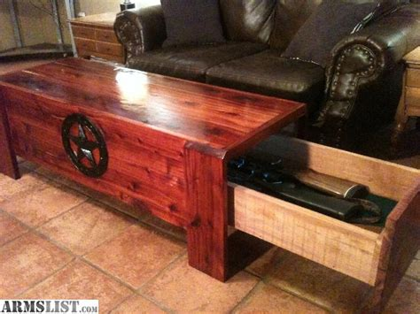 gun table armslist for sale concealed firearm coffee table