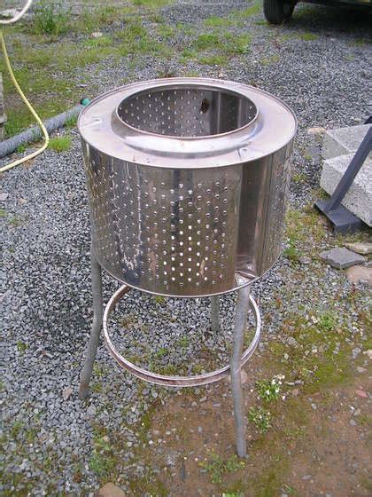 turn an washing machine into a backyard pit