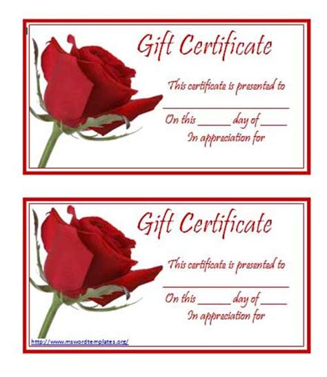 gift certificate template word free best photos of gift certificate template word 2010