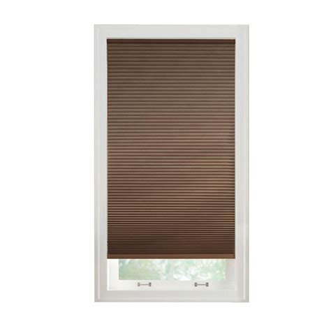 l shade parts home depot home decorators collection cut to width mocha 9 16 in