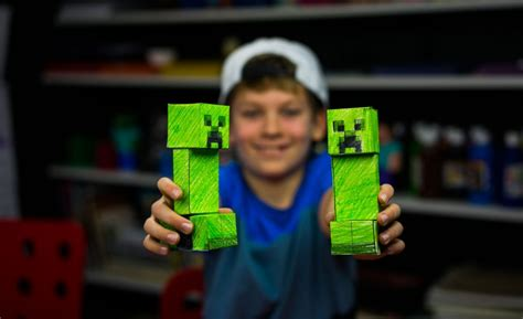 How To Make A Paper Creeper From Minecraft - cutout projects archives for hub