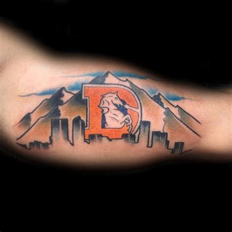 denver bronco tattoos 40 denver broncos tattoos for football ink ideas
