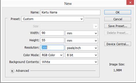 tutorial desain web dengan photoshop cs4 tutorial sederhana desain gravis cara memebuat kartu nama